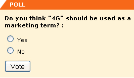 "Do you think ""4G"" should be used as a marketing term? :"