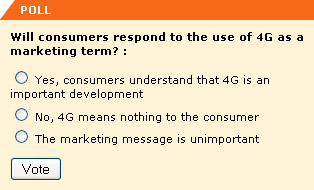 Will consumers respond to the use of 4G as a marketing term?