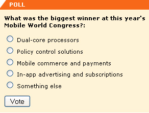 What was the big winner at MWC this year?