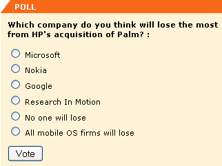Which company do you think will lose the most from HP's acquisition of Palm?