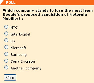 Which company stands to lose the most from Google's proposed acquisition of Motorola Mobility? -