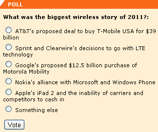 What was the biggest wireless story of 2011?