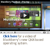 Click here for a video of BlackBerry's new QNX-based operating system.