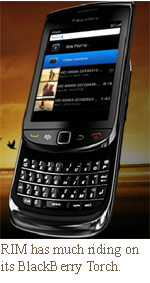 RIM has much riding on its BlackBerry Torch.