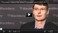 Thorsten Heins blackberry research in motion