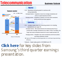 Click here for key slides from Samsung's third quarter earnings presentation.