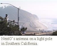 DAS on lightpole in Southern California