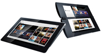 Sony's S1, left, and S2 Android tablets are to be released in the fall. The company noted that the design of the tablets is subject to change. Click here for details.
