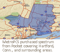 MetroPCS purchased spectrum from Pocket covering Hartford, Conn., and surrounding areas.