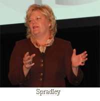 Sue Spradley, the head of North American operations for Nokia Siemens Networks,