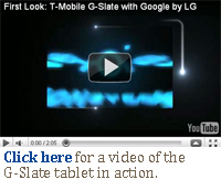 T-Mobile LG G-Slate Android 3.0 Honeycomb tablet video