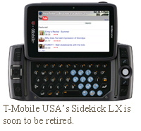 T-Mobile USA's Sidekick LX is soon to be retired.