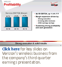 Click here for key slides on Verizon's wireless business from the company's third quarter earnings presentation.