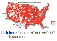Click here for a list of Verizon's LTE launch markets.