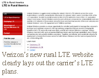 Verizon's new rural LTE website clearly lays out the carrier's LTE plans.