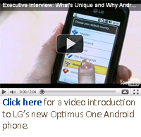 LG Optimus one android phone