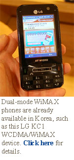this LG KC1 WCDMA/WiMAX phone that features Windows Mobile and an 806 MHz processor.