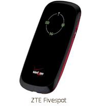 ZTE fivespot verizon hotspot 3g prepaid postpaid
