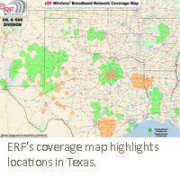 ERF's coverage map highlights locations in Texas.