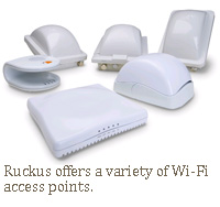 Ruckus offers a variety of Wi-Fi access points.