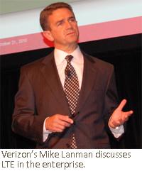 Verizon's Mike Lanman discusses LTE in the enterprise.