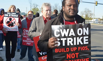 CWA Verizon strikers