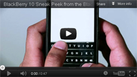 BlackBerry 10 video RIM