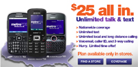 MetroPCS unlimited $25