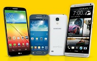 The HTC One max, LG G2, Samsung Galaxy Mega and Samsung Galaxy S4 mini sprint spark