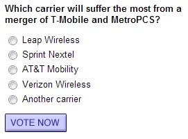 Which carrier will suffer the most from a merger of T-Mobile and MetroPCS?