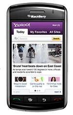 Yahoo for BlackBerry