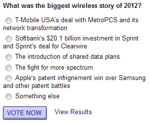 What was the biggest wireless story of 2012?