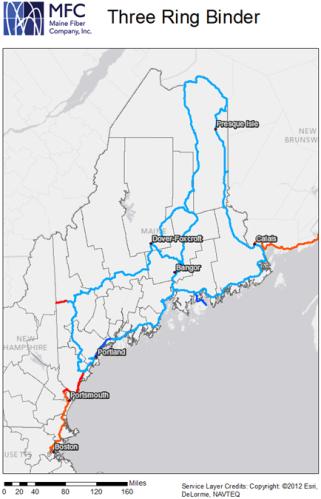 Maine Fiber Company 3 Ring Binder network