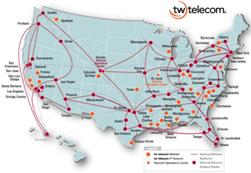 tw telecom E Line network map