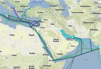 Egypt submarine cable routes
