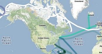 Arctic Fibre network route