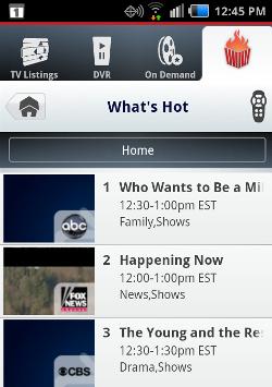 Verizon What's Hot mobile app