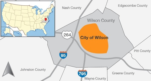 Wilson NC network map