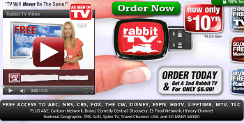Rabbit TV home page