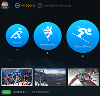 Comcast X1 Olympics detail