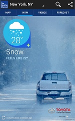 Android - Weather Channel Snowy