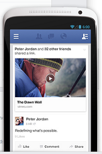 Facebook News Feed - Mobile