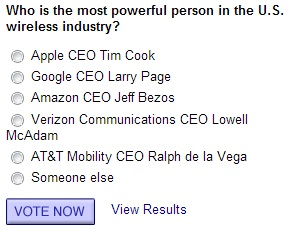 Poll - Most Powerful People in U.S. Wireless 2012