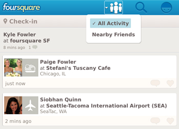 Foursquare - NearbyFriends for BlackBerry
