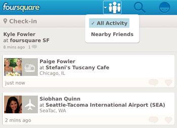 Foursquare - NearbyFriends for BlackBerry