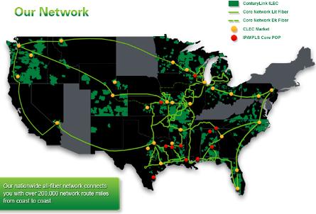Centurylink Fiber Optic Map CenturyLink's Qwest acquisition gives it even more optical power  Centurylink Fiber Optic Map