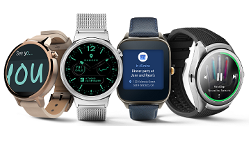 Android Wear sample display faces