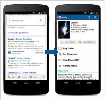 Google search app development